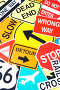 Комплект дорожных знаков, фото № 3074858, снято 7 августа 2008 г. (c) Monkey Business Images / Фотобанк Лори