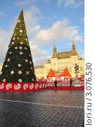 Купить «ГУМ-каток и новогодняя елка на Красной Площади в Москве», фото № 3076530, снято 19 декабря 2011 г. (c) Анна Мартынова / Фотобанк Лори