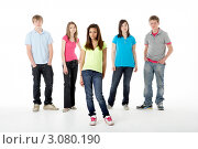 Купить «Портрет девочки-подростка на фоне друзей», фото № 3080190, снято 14 апреля 2009 г. (c) Monkey Business Images / Фотобанк Лори