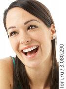 Купить «Портрет улыбающейся девушки», фото № 3080290, снято 20 апреля 2009 г. (c) Monkey Business Images / Фотобанк Лори