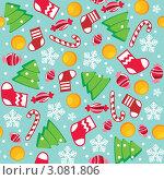 Купить «Бесшовный  рождественский  фон», иллюстрация № 3081806 (c) Рада Коваленко / Фотобанк Лори