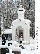 Купить «Санкт-Петербург. Смоленское кладбище. Часовня Пресвятой Троицы», эксклюзивное фото № 3082642, снято 4 января 2011 г. (c) Зобков Георгий / Фотобанк Лори
