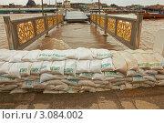 Купить «Таиланд, Бангкок, наводнение - мешки с песком на мосту около реки Chao Phraya», фото № 3084002, снято 29 февраля 2020 г. (c) Виктор Савушкин / Фотобанк Лори
