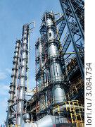 Завод по переработке газа. Стоковое фото, фотограф Николай Забурдаев / Фотобанк Лори