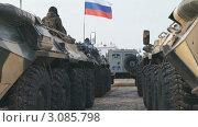 Купить «Полицейский бронетранспортер», видеоролик № 3085798, снято 26 декабря 2011 г. (c) Mikhail Erguine / Фотобанк Лори