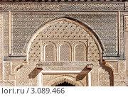 Купить «Фрагмент мечети Али Бен Юсуф в Марракеше. Марокко», фото № 3089466, снято 15 октября 2018 г. (c) Олег Селезнев / Фотобанк Лори