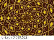 Купить «Яркий узор в желто-коричневых тонах», фото № 3089522, снято 13 октября 2011 г. (c) Илюхина Наталья / Фотобанк Лори