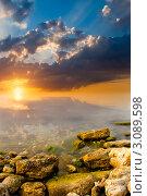 Закат на море. Стоковое фото, фотограф Sviatoslav Homiakov / Фотобанк Лори