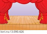 Пустая сцена. Стоковая иллюстрация, иллюстратор Екатерина Ильина / Фотобанк Лори