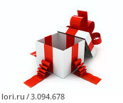 Открытая подарочная коробка. Стоковая иллюстрация, иллюстратор Виталий / Фотобанк Лори