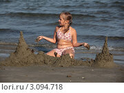 Купить «Замок на песке», фото № 3094718, снято 14 сентября 2011 г. (c) Svetlana Zavrazhina / Фотобанк Лори