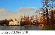 Купить «Пушкинский парк в Санкт-Петербурге», видеоролик № 3097518, снято 4 декабря 2011 г. (c) Михаил Коханчиков / Фотобанк Лори