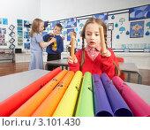 Купить «Дети на уроке в музыкальном классе», фото № 3101430, снято 3 июля 2000 г. (c) Monkey Business Images / Фотобанк Лори