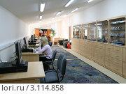 Купить «Интерьер библиотеки», фото № 3114858, снято 18 октября 2008 г. (c) Владимир Мельников / Фотобанк Лори