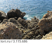 Камни на морском берегу. Турция. (2010 год). Стоковое фото, фотограф Божок Юлия / Фотобанк Лори