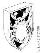 Эмблема жука. Стоковая иллюстрация, иллюстратор Елена Жукова / Фотобанк Лори