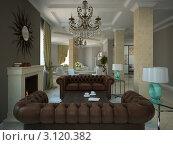Купить «Часть гостиной комнаты в современном загородном доме», иллюстрация № 3120382 (c) Hemul / Фотобанк Лори