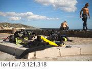 Аквалангисты. Испания, Тарифа (2011 год). Редакционное фото, фотограф Юрий Гринфельд / Фотобанк Лори