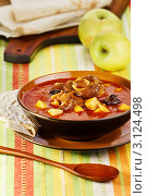 Купить «Армянский суп бозбаш», эксклюзивное фото № 3124498, снято 10 ноября 2011 г. (c) Ирина Завьялова / Фотобанк Лори