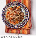 Купить «Плов», фото № 3126402, снято 17 декабря 2011 г. (c) Лисовская Наталья / Фотобанк Лори