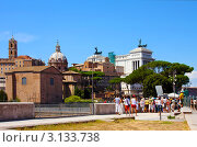 Купить «Руины Римского Форума, Рим, Италия», фото № 3133738, снято 26 августа 2008 г. (c) ElenArt / Фотобанк Лори