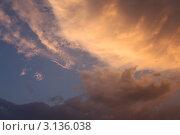 Вечернее небо. Стоковое фото, фотограф Дульнев Михаил / Фотобанк Лори