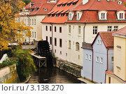 Мельница на реке Чертовка в Праге (2010 год). Стоковое фото, фотограф Олег Скударнов / Фотобанк Лори