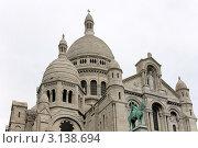 Купить «Базилика Сакре-Кер под пасмурным небом, Париж, Франция», фото № 3138694, снято 24 мая 2008 г. (c) Sergey Borisov / Фотобанк Лори