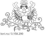 Карандашный рисунок заставки. Стоковая иллюстрация, иллюстратор Елена Жукова / Фотобанк Лори