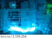Купить «Ледяная комната в тереме Снегурочки, бар», фото № 3159254, снято 17 января 2012 г. (c) ElenArt / Фотобанк Лори
