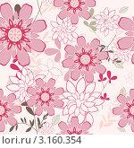 Купить «Красивый розовый фон с цветами, бесшовный узор», иллюстрация № 3160354 (c) Павел Коновалов / Фотобанк Лори