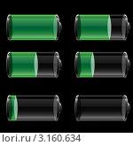 Индикаторы заряда батареи. Стоковая иллюстрация, иллюстратор Тамара Григолава / Фотобанк Лори