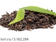 Китайский чай Пу Эр и свежие чайные листья. Стоковое фото, фотограф Константин Сидоров / Фотобанк Лори