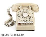 Купить «Старый дисковый телефонный аппарат», фото № 3168330, снято 30 ноября 2011 г. (c) Андрей Армягов / Фотобанк Лори