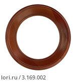 Круглая  деревянная рамка. Стоковое фото, фотограф vlntn / Фотобанк Лори