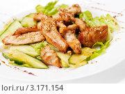 Салат из жареного цыпленка и овощей. Стоковое фото, фотограф Александр Маркин / Фотобанк Лори