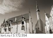 Сведневековая архитектура старого города. Таллин, Эстония (2008 год). Стоковое фото, фотограф Jelena Dautova / Фотобанк Лори