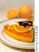 Купить «Пирог с апельсинами и шоколадной глазурью», фото № 3178242, снято 23 ноября 2011 г. (c) ElenArt / Фотобанк Лори