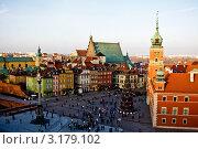 Купить «Замковая площадь в Варшаве», фото № 3179102, снято 11 декабря 2011 г. (c) Наталья Белотелова / Фотобанк Лори