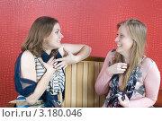 Купить «Девушка рассказывает подруге историю», фото № 3180046, снято 21 января 2012 г. (c) Pukhov K / Фотобанк Лори