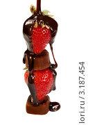 Купить «Вкусный десерт с клубникой и шоколадом», фото № 3187454, снято 15 июня 2011 г. (c) ElenArt / Фотобанк Лори