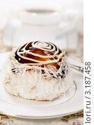 Купить «Вкусный тортик с кокосовой стружкой и карамельной глазурью», фото № 3187458, снято 18 октября 2011 г. (c) ElenArt / Фотобанк Лори