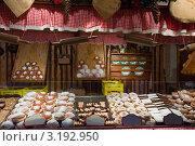 Купить «Ассортимент свежих кондитерских изделий на прилавке», фото № 3192950, снято 22 ноября 2011 г. (c) Яков Филимонов / Фотобанк Лори