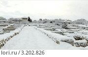 Купить «Херсонес зимой, Украина», видеоролик № 3202826, снято 30 января 2012 г. (c) Артем Поваров / Фотобанк Лори