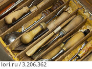 Купить «Инструменты профессионального резчика», фото № 3206362, снято 2 августа 2011 г. (c) Антон Балаж / Фотобанк Лори