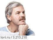 Купить «Задумчивый пожилой мужчина», фото № 3213210, снято 24 января 2012 г. (c) Максим Бондарчук / Фотобанк Лори