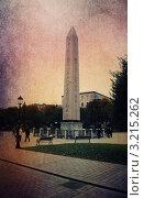 Купить «Египетский обелиск в Стумбуле. Стилизация под старую открытку», иллюстрация № 3215262 (c) Екатерина Шелыганова / Фотобанк Лори