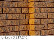 Фрагмент кирпичной стены на закате. Стоковое фото, фотограф Vladimir Shashkin / Фотобанк Лори