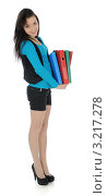 Купить «Девушка с документами», фото № 3217278, снято 1 февраля 2012 г. (c) Валерий Александрович / Фотобанк Лори