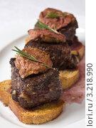 Купить «Жареное мясо с гренками», фото № 3218990, снято 21 марта 2019 г. (c) Юлий Шик / Фотобанк Лори